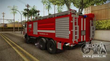 KamAZ 53212 Feuer-LKW in der Stadt Arzamas für GTA San Andreas rechten Ansicht