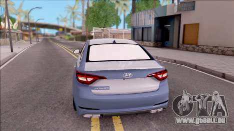 Hyundai Sonata 2016 pour GTA San Andreas sur la vue arrière gauche