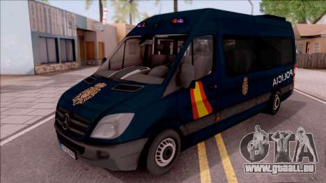 Mercedes-Benz Sprinter Spanish Police pour GTA San Andreas