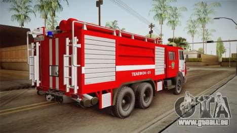 KamAZ 53212 Feuer-LKW in der Stadt Arzamas für GTA San Andreas linke Ansicht