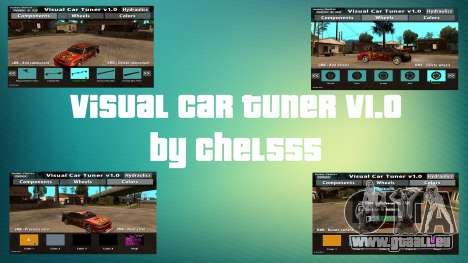 Visual Car Tuner v1.0 pour GTA San Andreas