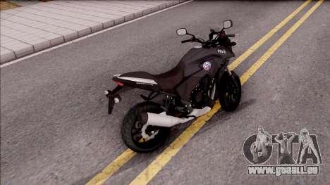 Honda CB500X Turkish Police Motorcycle pour GTA San Andreas sur la vue arrière gauche