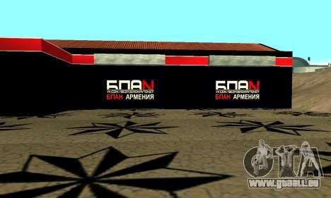 BPAN Arménie garage à SF pour GTA San Andreas sixième écran