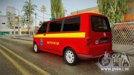 Volkswagen T5 Border Police für GTA San Andreas linke Ansicht