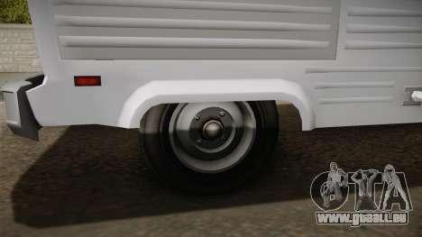 GTA 5 Zirconium Journey Cleaner IVF pour GTA San Andreas vue arrière