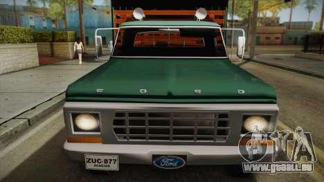 Ford F-350 1978 für GTA San Andreas zurück linke Ansicht