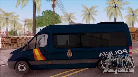 Mercedes-Benz Sprinter Spanish Police pour GTA San Andreas laissé vue
