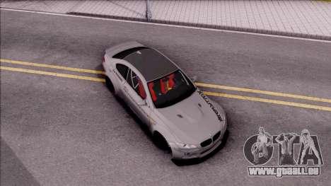 BMW M3 E92 Liberty Walk Performance 2013 pour GTA San Andreas vue de droite