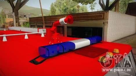 KamAZ 53212 Feuer-LKW in der Stadt Arzamas für GTA San Andreas Innenansicht