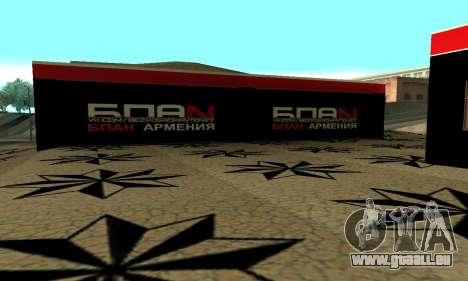 BPAN Arménie garage à SF pour GTA San Andreas deuxième écran