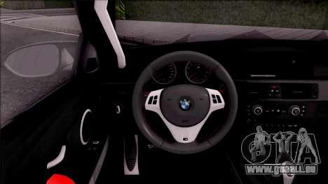 BMW M3 E92 Liberty Walk Performance 2013 pour GTA San Andreas vue intérieure
