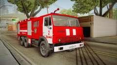 KamAZ 53212 camion de pompiers dans la ville de