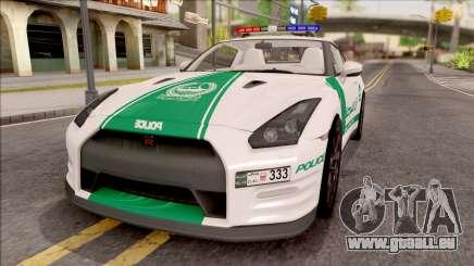 Nissan GT-R R35 Dubai High Speed Police pour GTA San Andreas