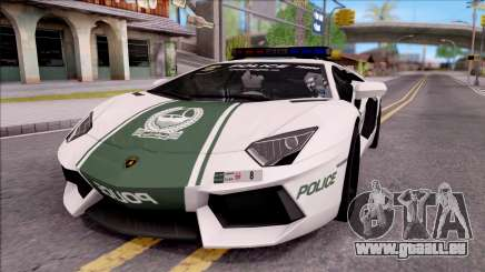 Lamborghini Aventador LP700-4 Dubai HS Police pour GTA San Andreas