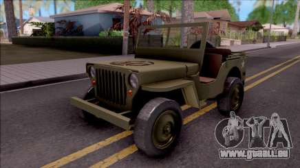 Jeep Willys MB Military für GTA San Andreas