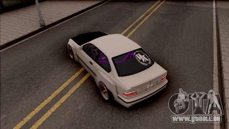 BMW M3 E36 Drift Rocket Bunny v4 pour GTA San Andreas vue arrière