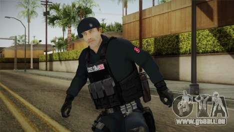 Turkish Police-Rapid Response Unit Member für GTA San Andreas