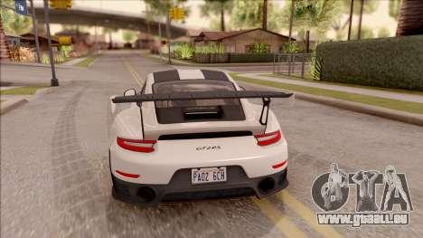 Porsche 911 GT2 RS Weissach Package SA Plate für GTA San Andreas
