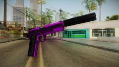 Purple Silenced Pistol