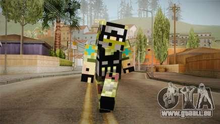 Minecraft Swat Skin pour GTA San Andreas