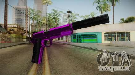 Purple Silenced Pistol für GTA San Andreas