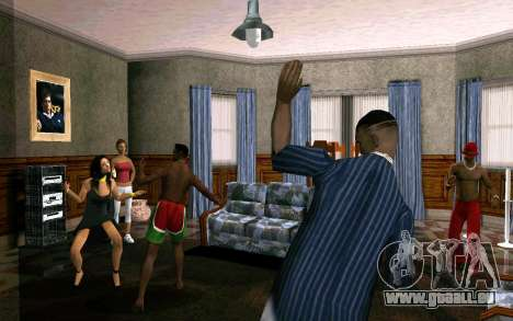 Party im Haus von CJ für GTA San Andreas