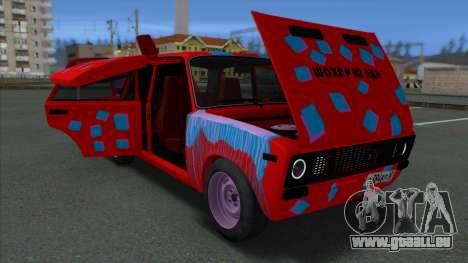 VAZ 2106 Shaherizada 2.3 GVR MTA pour GTA San Andreas vue arrière