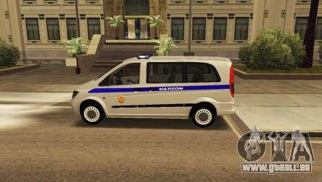 Mercedes-Benz Vito FSB pour GTA San Andreas laissé vue