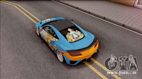 Acura NSX Stance 2017 Itasha Nami pour GTA San Andreas vue arrière