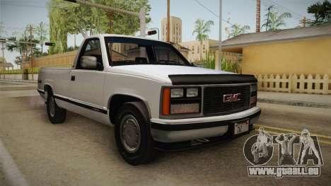 GMC Sierra 1500 1988 für GTA San Andreas zurück linke Ansicht