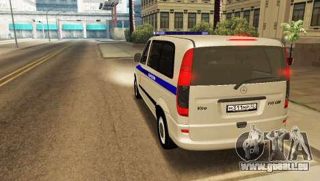 Mercedes-Benz Vito FSB pour GTA San Andreas vue de droite