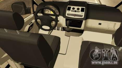 Mercedes-Benz Vito FSB pour GTA San Andreas vue intérieure