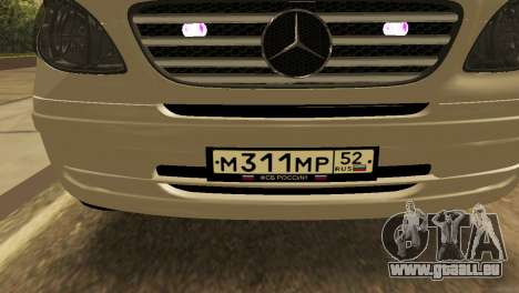 Mercedes-Benz Vito FSB pour GTA San Andreas vue arrière