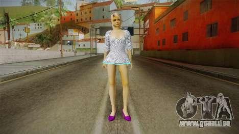 Marie Rose Skin in White Dress für GTA San Andreas zweiten Screenshot
