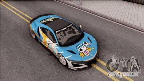 Acura NSX Stance 2017 Itasha Nami pour GTA San Andreas vue de droite