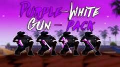 Schillernde Rosa Und Weiß-Pack Von Waffen