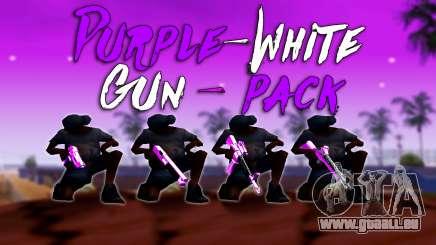 Schillernde Rosa Und Weiß-Pack Von Waffen für GTA San Andreas