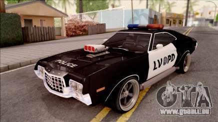 Ford Gran Torino Police LVPD 1972 v4 für GTA San Andreas