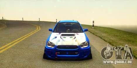 Subaru Impreza WRX STi 2004 (Virtual Diva) pour GTA San Andreas vue arrière