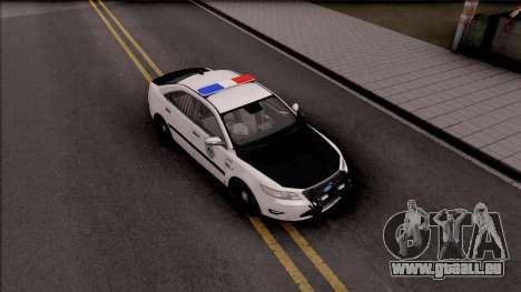 Ford Taurus 2011 Des Moines PD pour GTA San Andreas vue de droite