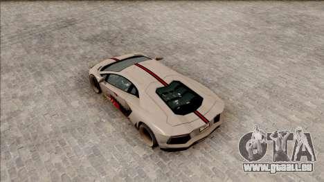 Lamborghini Aventador Shark New Edition White für GTA San Andreas Rückansicht