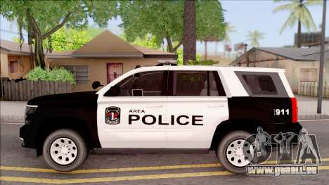 Chevrolet Tahoe 2015 Area Police Department für GTA San Andreas linke Ansicht