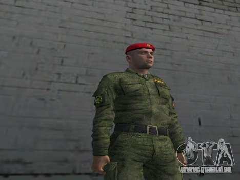 Officier De Fusiliers Motorisés Troupes pour GTA San Andreas deuxième écran