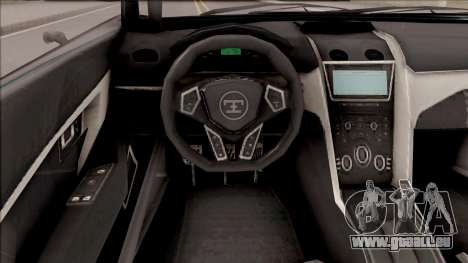 Truffade Nero from GTA V pour GTA San Andreas vue arrière