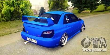 Subaru Impreza WRX STi 2004 (Virtual Diva) pour GTA San Andreas laissé vue