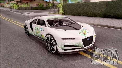 Truffade Nero from GTA V pour GTA San Andreas vue de dessus