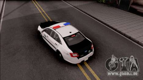 Ford Taurus 2011 Des Moines PD pour GTA San Andreas vue arrière