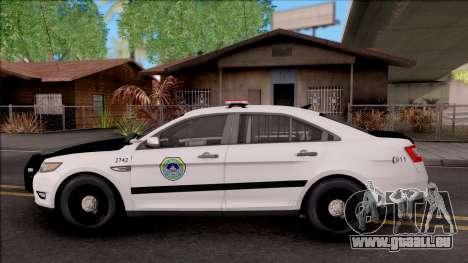 Ford Taurus 2011 Des Moines PD pour GTA San Andreas laissé vue