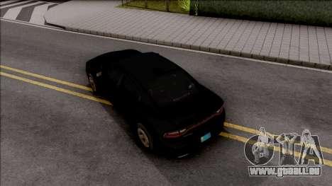 Dodge Charger Unmarked 2015 pour GTA San Andreas vue arrière