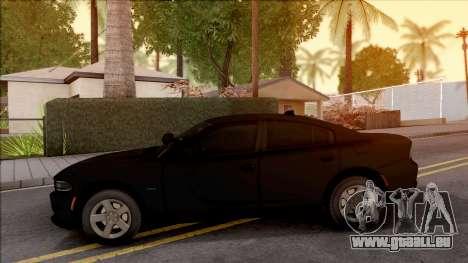 Dodge Charger Unmarked 2015 pour GTA San Andreas laissé vue